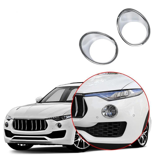NINTE Car Front Tail Fog light Lamp Shade Frame Trim cover For Maserati Levante 2016-2019 - NINTE