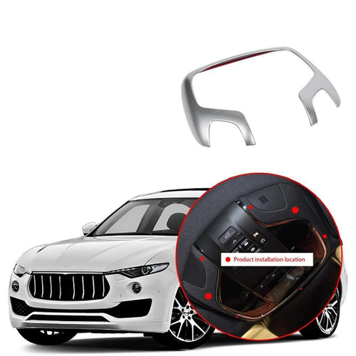 NINTE Car Interior Reading Light Lamp Cover Trim Stickers Accessory Fit for Maserati Levante 2016-2019 - NINTE