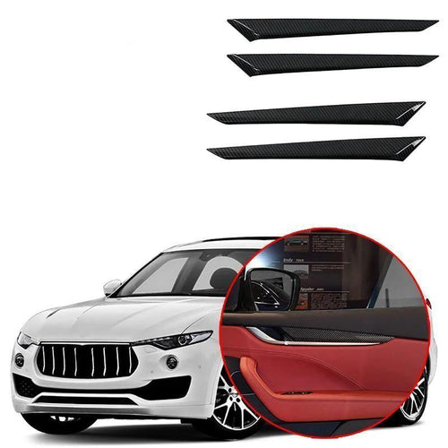 NINTE Inner Door Armrest Decor Cover Trim For Maserati Levante 2016-2019 - NINTE