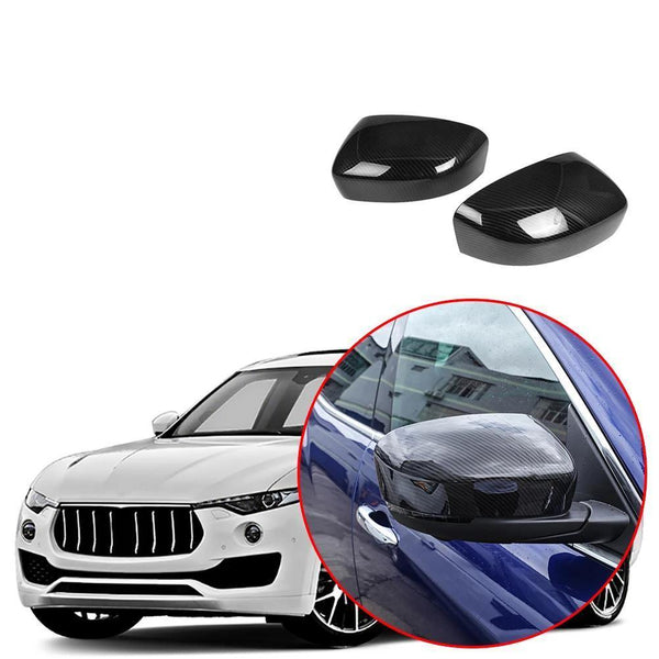 Car Outside Door Rear View Side Mirror Cover Cap Trim for Maserati Levante 2016-2019 NINTE - NINTE