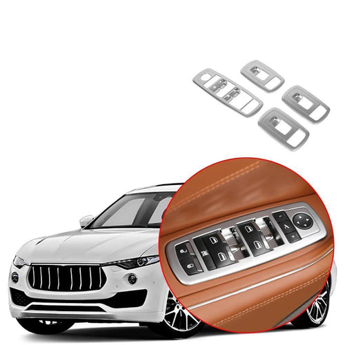 Car Interior Window Switch Lifting Panel Frame Cover Decoration Fit for Maserati Levante 2016-2019 NINTE - NINTE