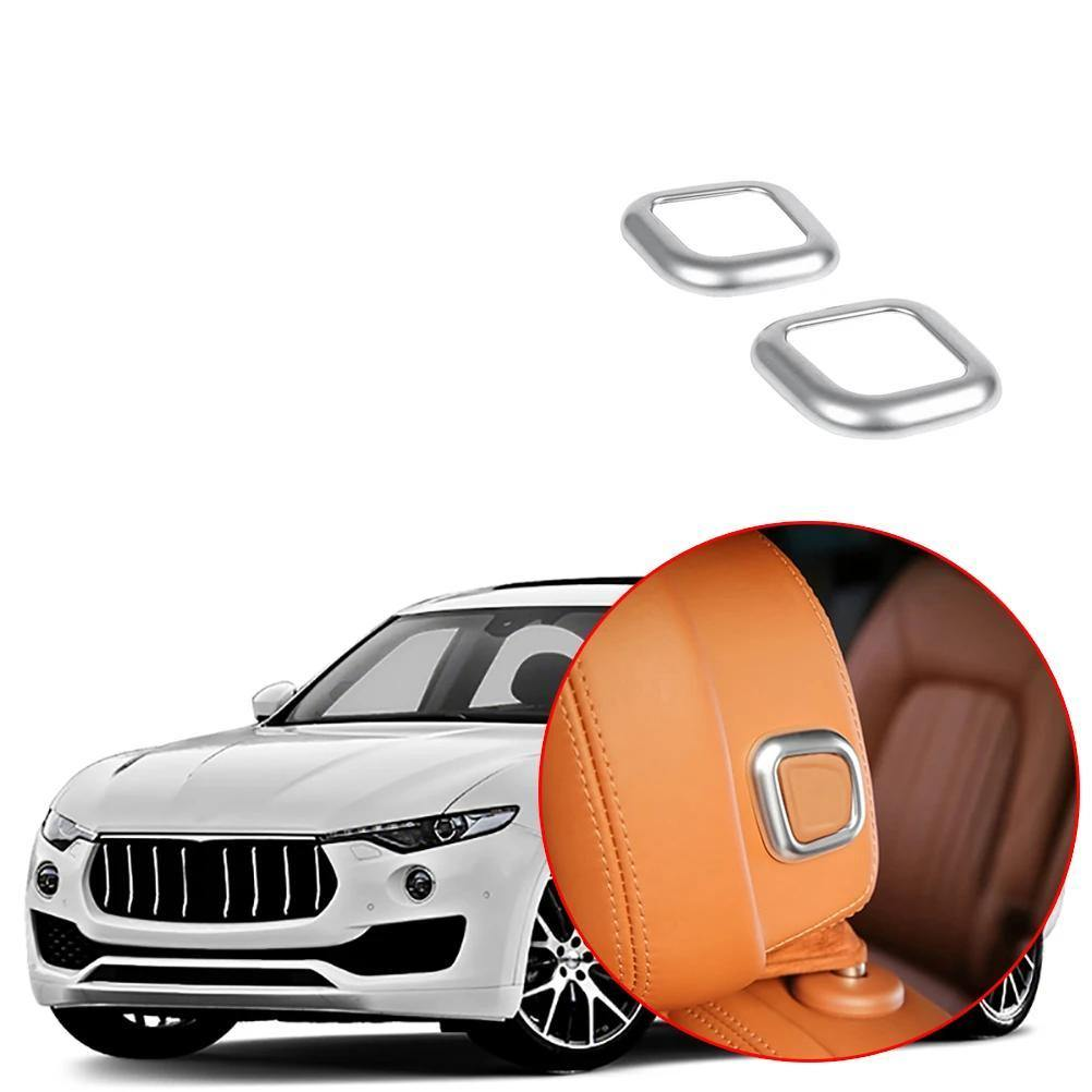 Car Head Pillow Adjustment Button Frame Cover Fit For