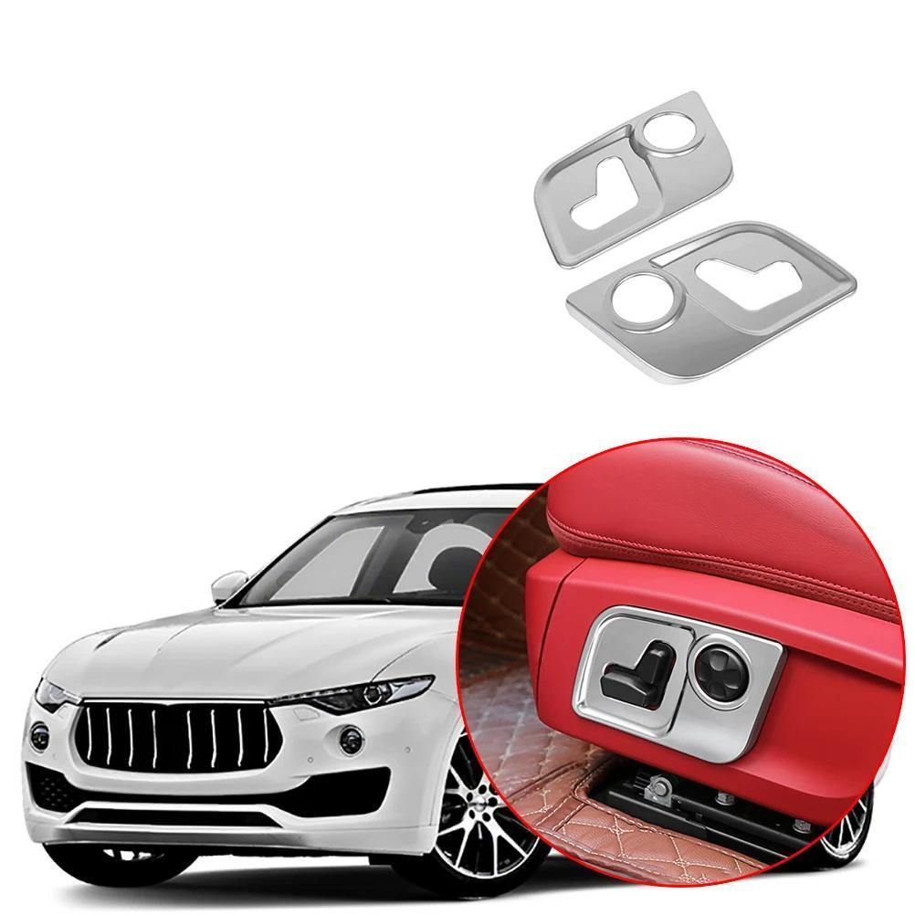 Car Seat Adjustment Button Frame Cover Fit For Maserati