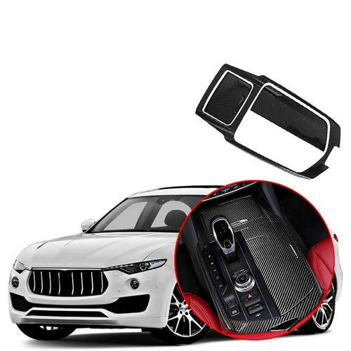 NINTE Car Gear Shift Box Frame Cover Trim Fit for Maserati Levante 2017-2019 - NINTE