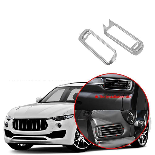 Car Interior Front Side Air Conditioning Vent Outlet Frame Cover Decoration Trim Fit for Maserati Levante 2017-2019 NINTE - NINTE