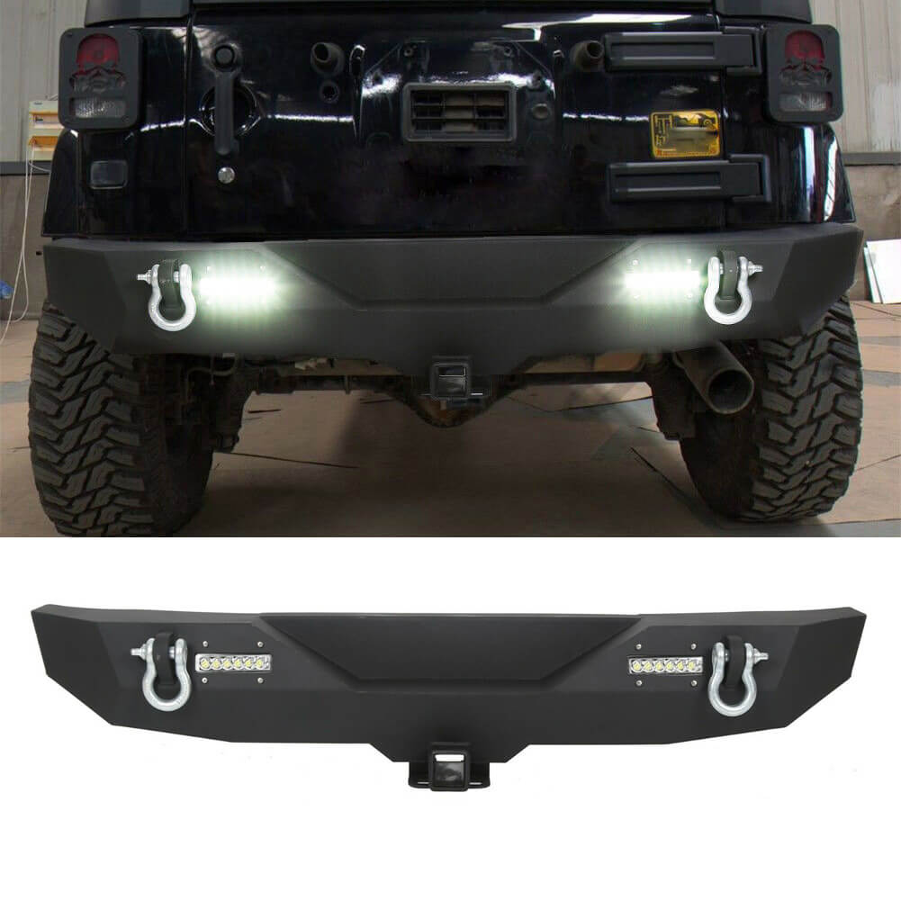 NINTE Rear Bumper For 2007-2018 Jeep Wrangler JK