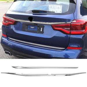 Rear Tail Trunk Lid Molding Covers Trim for BMW X3 G01 2018 2019 NINTE - NINTE