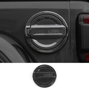 NINTE Car Gas Fuel Tank Cap Cover Stickers For Jeep Wrangler JL 2018 2019 - NINTE
