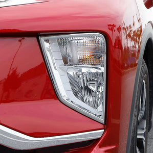 NINTE Exterior ABS Chrome Front Tail Fog Light Lamp Cover Trim For Mitsubishi Eclipse Cross 2017-2019 - NINTE