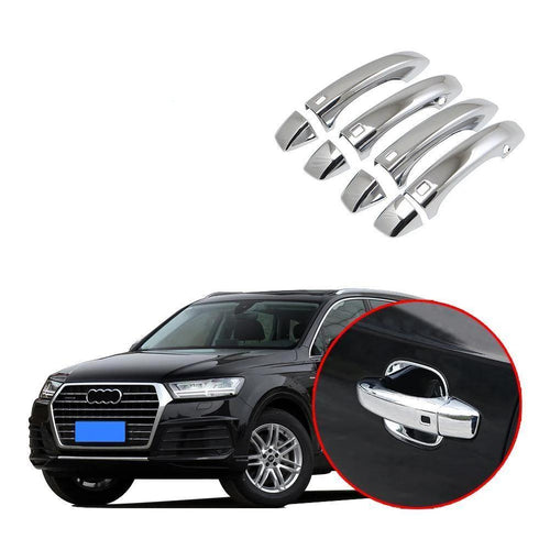 4*Car Stainless steelDoor Outer Handle Trims Decorative Frames For Audi Q7 2016-2019 NINTE - NINTE