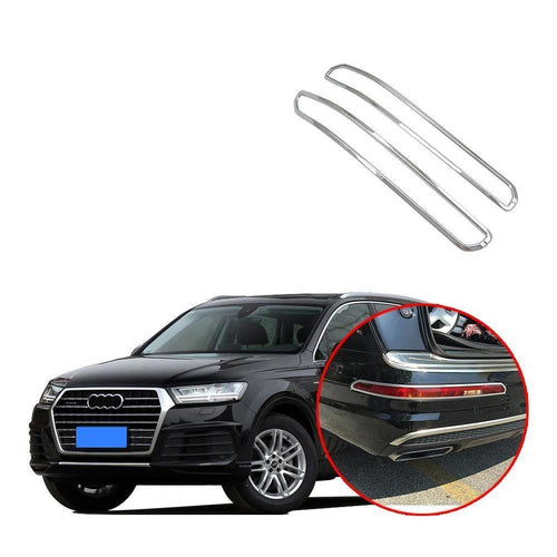 Exterior ABS Chrome Rear Tail Fog Light Lamp Cover Trim For Audi Q7 2016-2019 NINTE - NINTE