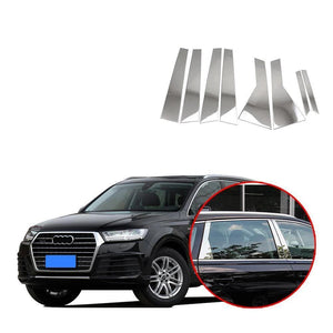 Window Frame Trims Middle Bright Silver 8PCS car styling For Audi Q7 2016-2019 NINTE - NINTE