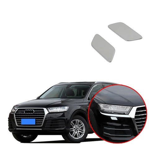 NINTE Front Headlight Sprinkler Water Spray Cover Trim 2PCS For Audi Q7 2016-2019 - NINTE