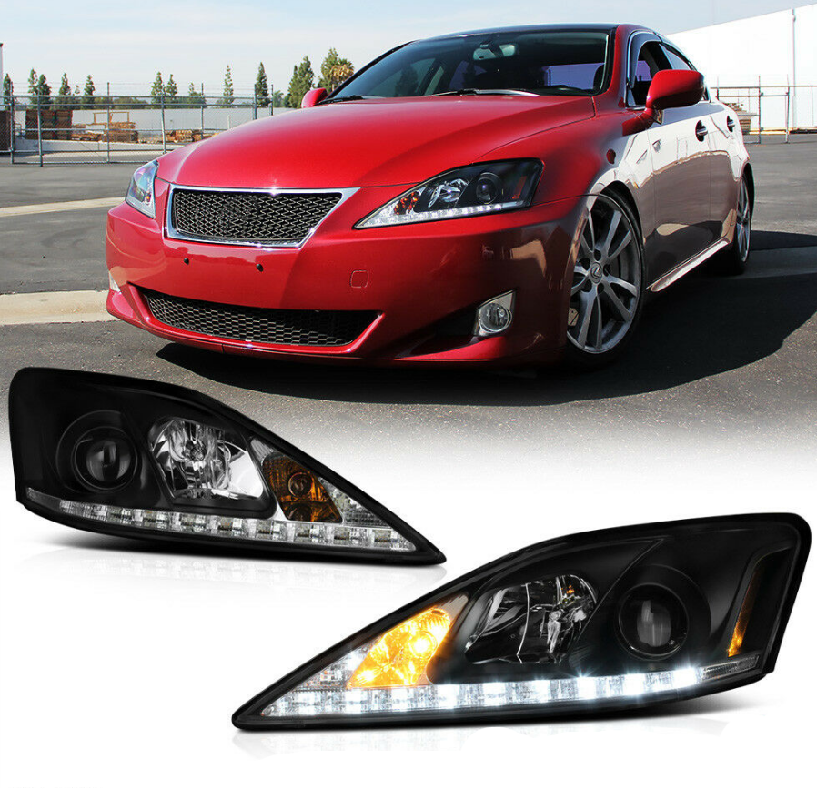 For 2006-2013 Lexus IS250 IS350 LED Strip DRL LED Headlights Assembly Left+Right - NINTE