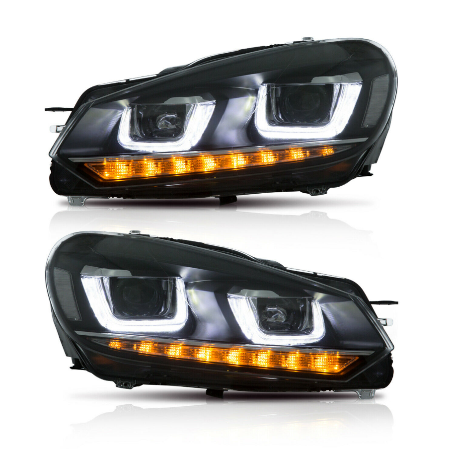 LED Headlights & Tail Lights Fit For VW VOLKSWAGEN Golf MK6 6 GTI 2010-2014 - NINTE