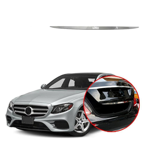 Trunk door trim tailgate trim Sticker Cover Accessories For Mercedes Benz E class W213 2016-2018 NINTE - NINTE