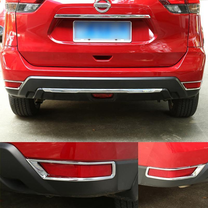 Ninte Nissan Rogue X-trail 2017-2019 Exterior ABS Chrome Rear Tail Fog Light Lamp Cover - NINTE