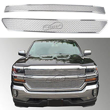 Load image into Gallery viewer, NINTE Chevy Silverado 1500 2016-2018 Gloss Black Stick-On Grille Overlay Covers - NINTE
