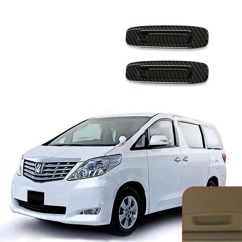 NINTE ABS 2Pcs Skylight Handle Bowl Cover Trim For TOYOTA Alphard 2015-2018 - NINTE