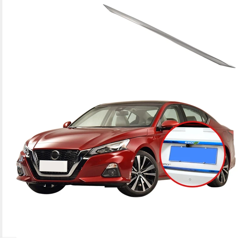 Ninte Nissan Altima 2019 Exterior Matter Silver Rear Trunk Tailgate Bottom Lid Strip Stainless Steel - NINTE