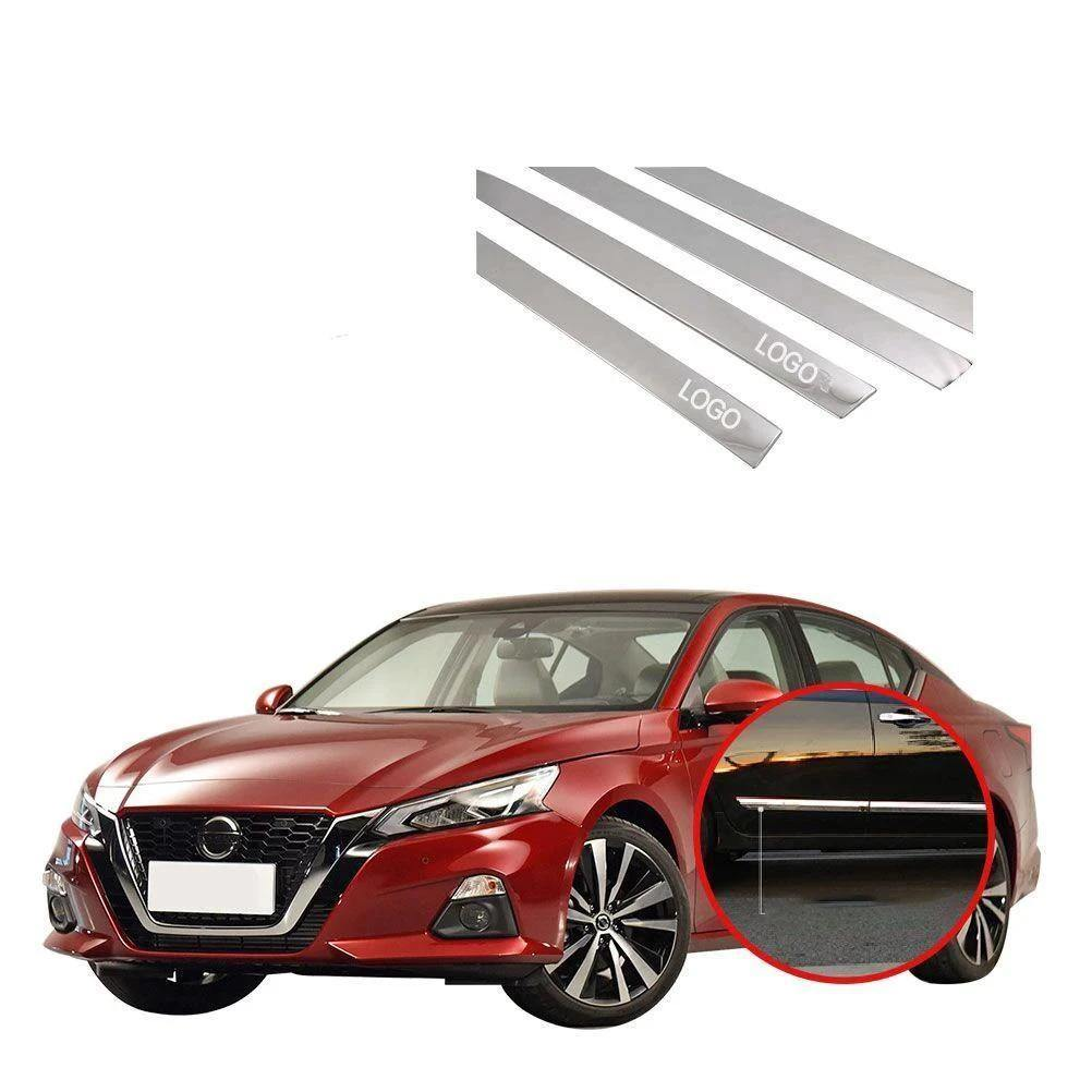 Ninte Nissan Altima 2019 Door Side Anti-scratch Strips Cover Decoration Matter Silver Stainless Steel - NINTE