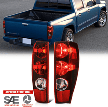 "Load image into Gallery viewer, 04-12 Chevy Colorado GMC Canyon ""Factory Style"" Red Tail Light Brake Lamp LH+RH - NINTE"