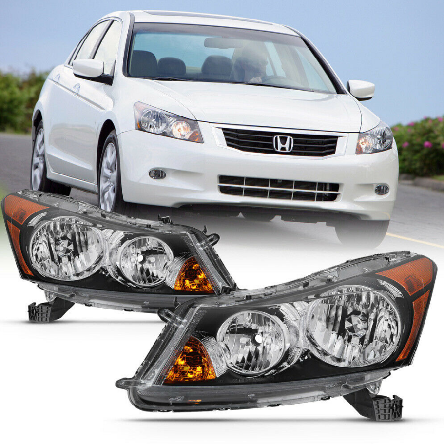 Pair For 08-12 Honda Accord Sedan Factory Style Replacement Headlight Assembly - NINTE