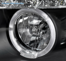 Laden Sie das Bild in den Galerie-Viewer, For 06-08 BMW E90 3-Series 325i 330i 4Dr Black LED Halo Projector Headlight Pair - NINTE