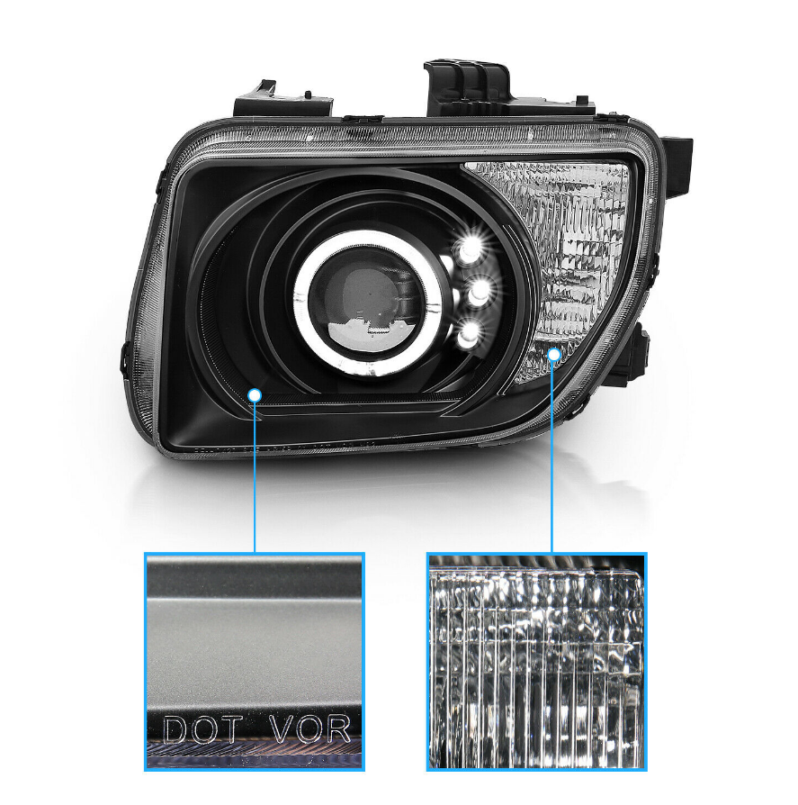 [LED Halo]For 2003-2008 Honda Element Projector Headlights - NINTE