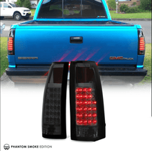 "Load image into Gallery viewer, ""Exclusive"" 88-98 Chevy GMC C/K Pickup Dark Smoke LED Rear Tail Lights Assembly - NINTE"