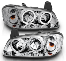 Load image into Gallery viewer, [Dual LED Halo] For 2002 2003 Nissan Maxima Dual LED Halo Chrome Headlights Pair - NINTE