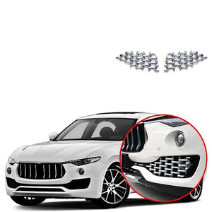 Front fog light Center Grille Cover Trim Fit for Maserati Levante 2016-2019 NINTE - NINTE
