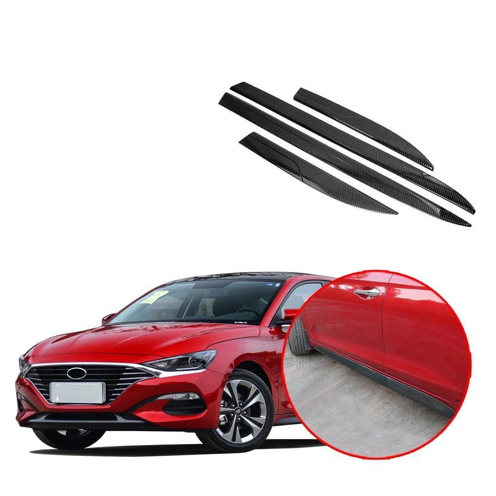 NINTE Hyundai Lafesta 2018-2019 4 PCS Car Door Molding Side Door Sill Trim Strip - NINTE