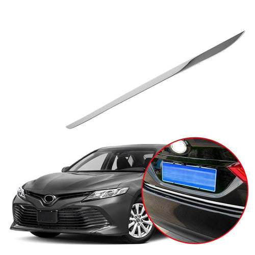 For Toyota Camry XV70 2018 Stainless Steel Rear Guard Trunk Tail Door Tailgate Back Lid Cover Boot Strip Frame Body - NINTE
