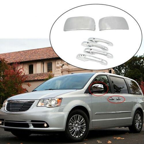 NINTE Dodge Grand Caravan Chrysler Town&Country CHROME Mirror Covers& Door Handle Covers - NINTE