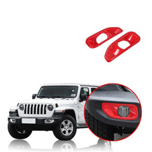 Load image into Gallery viewer, NINTE Jeep Wrangler JL 2018-2019 Front Fog Light Lamp Cover Decoration - NINTE