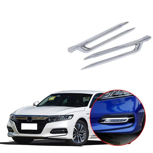 NINTE ABS Chrome Accessories Front Fog Lamp light Cover Trim For Honda Accord 2018-2019 - NINTE