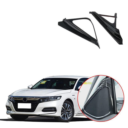 NINTE ABS Carbon Style Car Front Door Internal Triangle Styling Trim Decoration 2pcs For Honda Accord 2018 2019 10th - NINTE