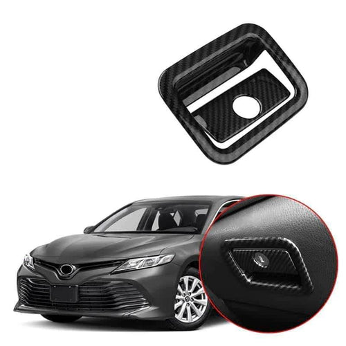NINTE Accessories Copilot Glove Storage Box Handle Cover Trim For Toyota Camry 2018 2019 - NINTE