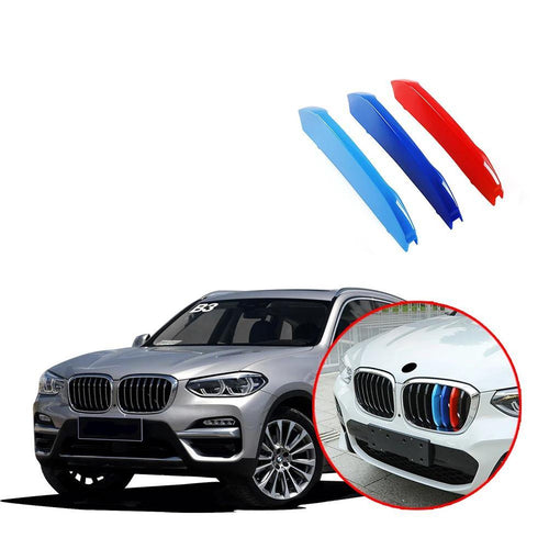 Car Front Grille Grill Cover Trim Clips 3D ABS Stickers for BMW X3 G01 X4 G02 2018 Performance Stickers - NINTE