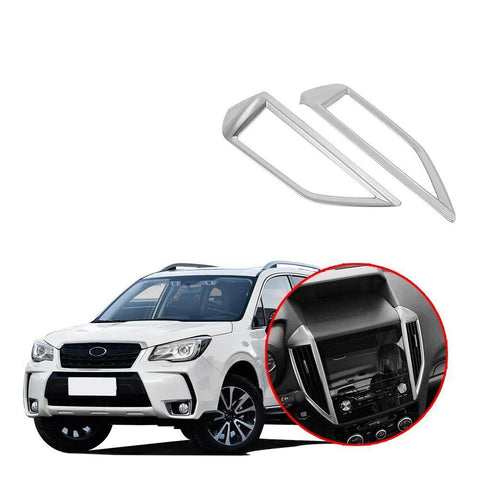New 2PCS Silver plating Center Air Vent Outlet Cover Trim For Subaru Forester 2019 NINTE - NINTE