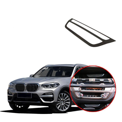 NINTE Interior Control CD Panel Cover Trim For BMW X3 G01 2017 2018 2019 - NINTE