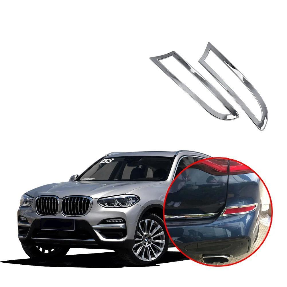 NINTE Rear Tail Fog Light Lamp Frame Cover Trim For BMW X3