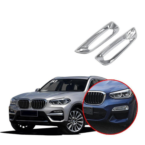 NINTE Front Head Fog Lights Lamp Cover Trim Bright For BMW X3 G01 2018 2019 - NINTE