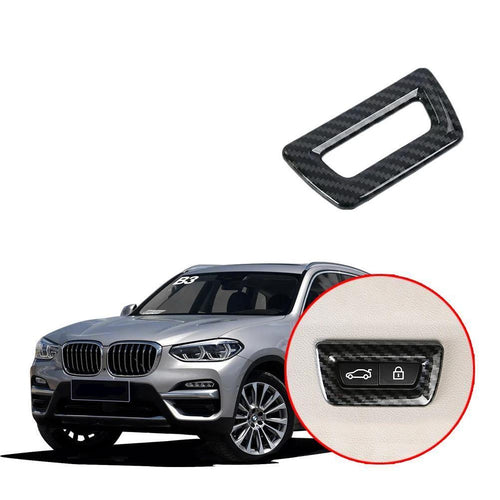 NINTE Rear trunk switch cover trim for BMW X3 G01 2017 2018 2019 - NINTE