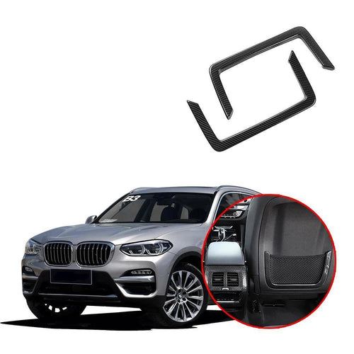 NINTE Storage Holder Back Seat Cover Frame Mesh trim Net Decoration For BMW X3 2018 2019 - NINTE