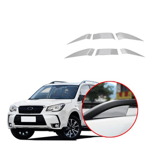 Luggage Rack Patch Cover Matte Sliver Decoration Trim For SUBARU Forester 2019 NINTE - NINTE