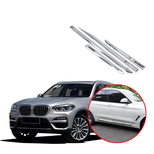 Door body side Molding Guard Cover Trim For BMW X3 Sport 2018 2019 NINTE - NINTE