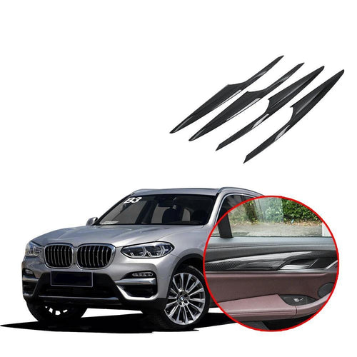 NINTE Inner Door Armrest Stripe Cover Trim For BMW X3 G01 2018 2019 - NINTE