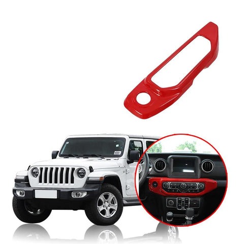 NINTE Car Interior Air Conditioning Adjustment Panel Cover Trim For Jeep Wrangler JL 2018 2019 - NINTE